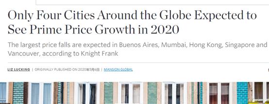 今年全球僅四座城市房價能正增